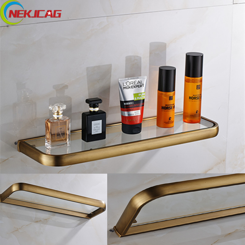 2017 New Oil Rubbed Bronzed Brass Wall Mounted Commodity Shelf Sing Tier Bathroom Shelves For Shower allen roth brinkley handsome oil rubbed bronze metal toothbrush holder