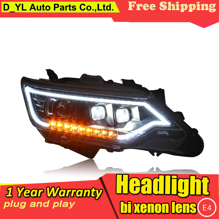 Car Styling Headlights for Toyota Camry 2015 LED Headlight for Camry Head Lamp H7 LED Daytime