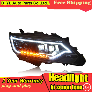 Car-Styling Headlights for Toyota Camry 2015 LED Headlight for Camry Head Lamp H7 LED Daytime Running Light LED DRL Bi-Xenon HID