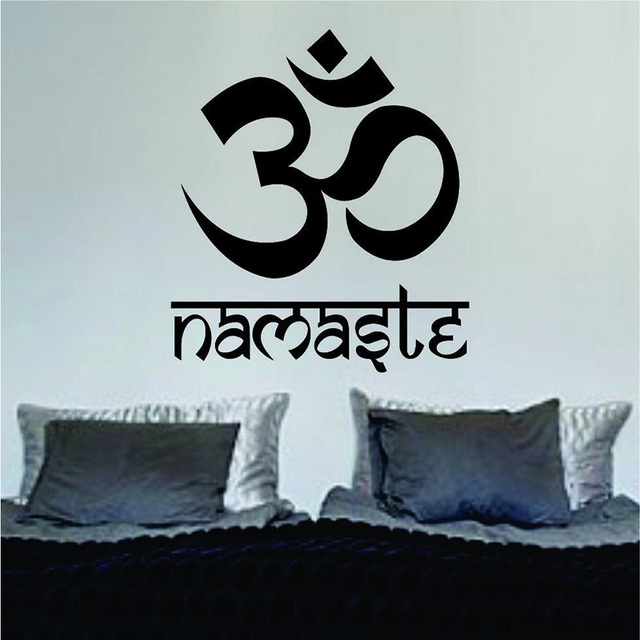 Om Namaste Design Yoga Mandala Vinyl Wall Decal Home Decor Living Room Art Mural Stickers