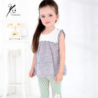 Kids Dress Baby Girls Summer Cotton Clothing White Lace Appliques Toddler Dresses Child Clothes XDD-Q8001