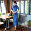 Free shipping long Qipao chinese traditional dresses Lace qipao dresses Women's Oriental Dress Cheongsam Qipao 3 Color