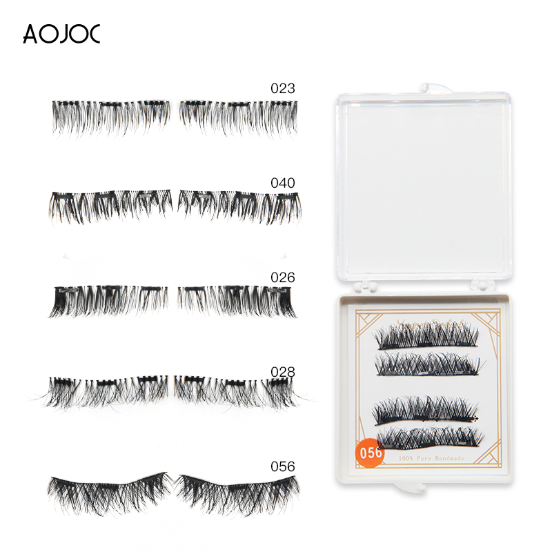daa76348a3f volume Magnetic Eyelashes 3D Extensions Mink Reusable Magnet False Eyelashes  Triple Natural Soft Hair Magnet Eye Lashes lift kit-in False Eyelashes from  ...
