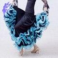 ГОРЯЧАЯ Бального танца костюмы сексуальный старший шелк льда обжимной бальный танец платье для женщины бальный танец конкуренции платья