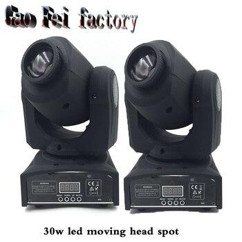 30 Вт Светодиодный точечный движущийся головной свет DMX контроллер диджей Точечный светильник фирмы