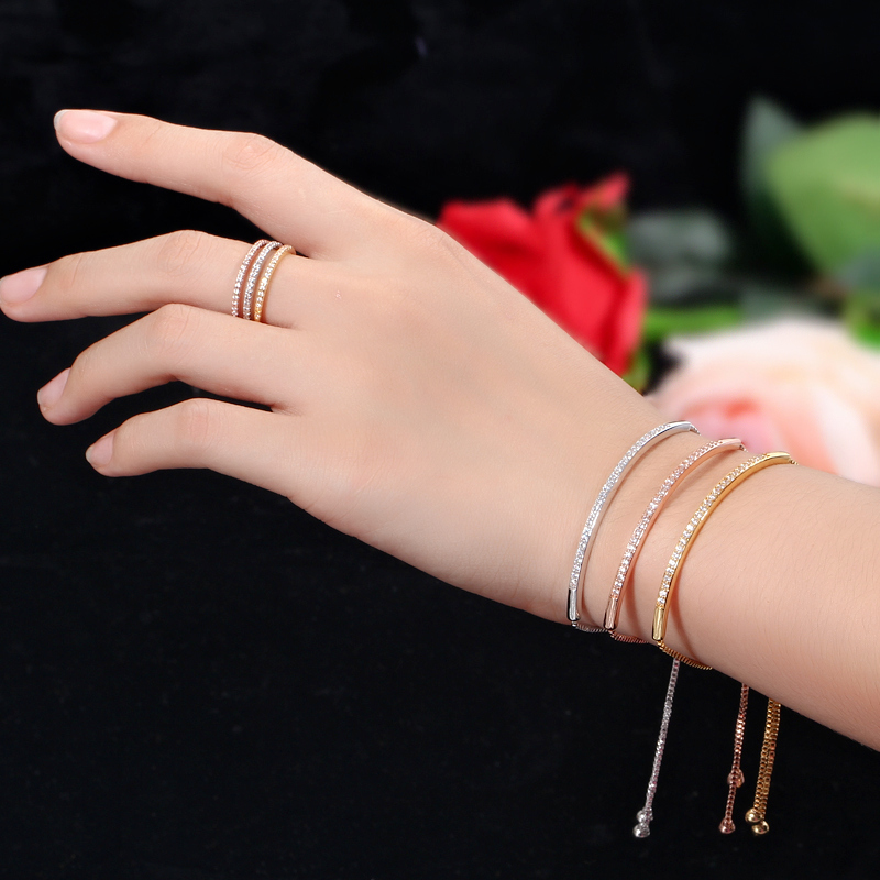 HTB1gIYNX5rxK1RkHFCcq6AQCVXad - CWWZircons Adjustable Bracelet Bangle for Women Captivate Bar Slider Brilliant CZ Rose Gold Color Jewelry Pulseira Feminia CB089