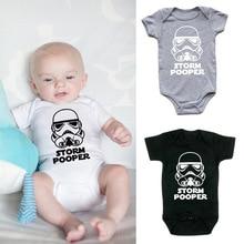 Newborn Star Wars Storm Pooper Baby Clothes Cotton Boys Romp