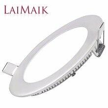 Laimaik led light panel ac85 ~ 265 v della luce di soffitto smd2835 led pannello lampada assorbe la luce di cupola lampada per soggiorno led da incasso