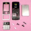 Silver New Full Housing Front Faceplates + Middle Frame + Back battery Cover Keyboards For Nokia 6300 Free shipping