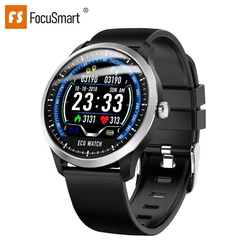 Focmart 2019 nouvelle montre intelligente N58 avec affichage couleur ECG PPG moniteur de fréquence cardiaque pression artérielle Tracker de Fitness montre intelligente