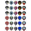 30Pcs/10Sets Professional 2D Bling Dart Flights Laser Tail Flight Harrows Throwing Toy Drop Shipping