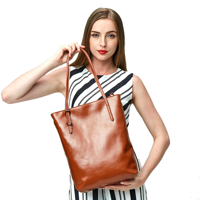 Women Cow Leather Shopping bag high quality Vertical section ladies casual tote fashion Genuine Leather Commuter OL Shoulder Bag 2017 women handbags ladies leather commuter office tote bag high quality women bag