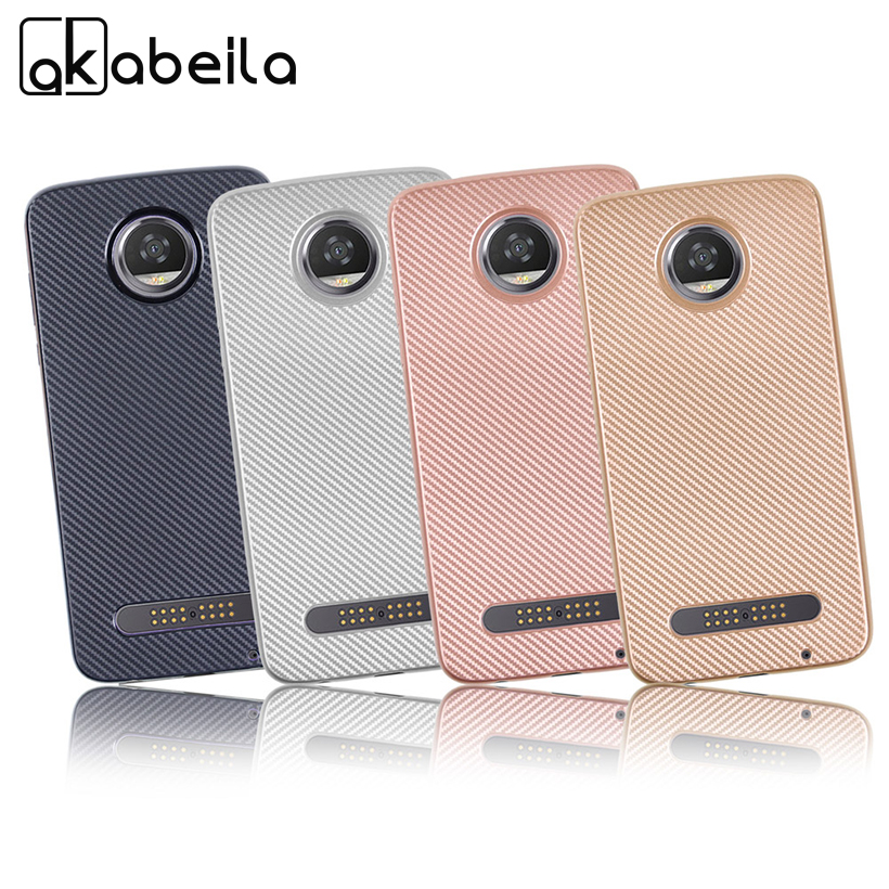 AKABEILA Silicon Case For Motorola Moto Z2 Play XT1710-01 XT1710-07 XT1710-10 XT1710-08 Motorola Z Play Cover Soft TPU Back Bag