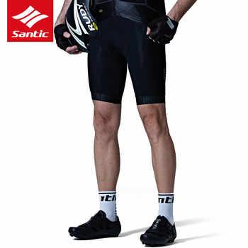 Santic Cycling Shorts Downhill Mountain Road Bike Shorts Pro Breathable Italian Imported Pad MTB Bicycle Shorts Bermuda Ciclismo