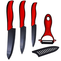 Kitchen Ceramic Knives Set 4 Inch Utility 5 Inch Slicing 6 Inch Chef Knife And One