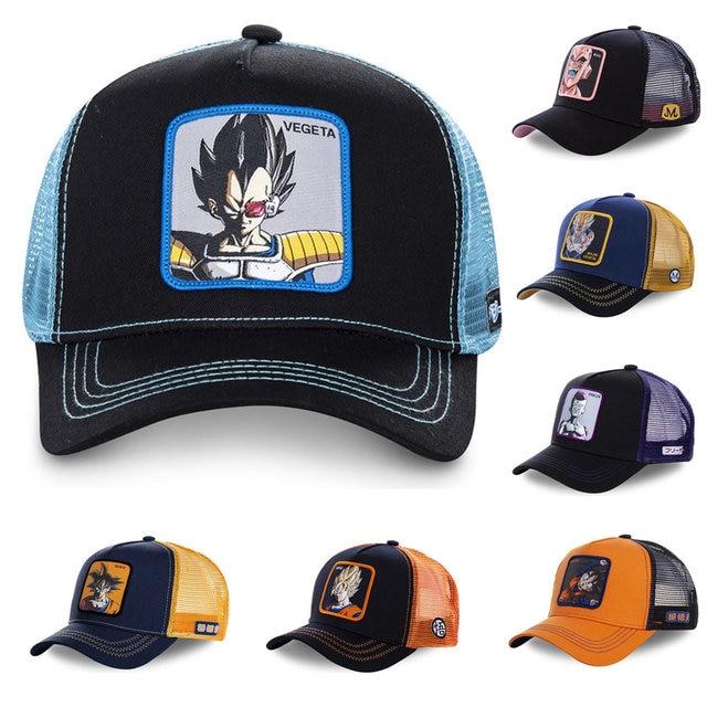 90ed7f5c1 US $4.49 10% OFF|New Brand 12 Styles Dragon Ball Snapback Cap Cotton  Baseball Cap Men Women Hip Hop Dad Mesh Hat Trucker Hat Dropshipping-in  Men's ...