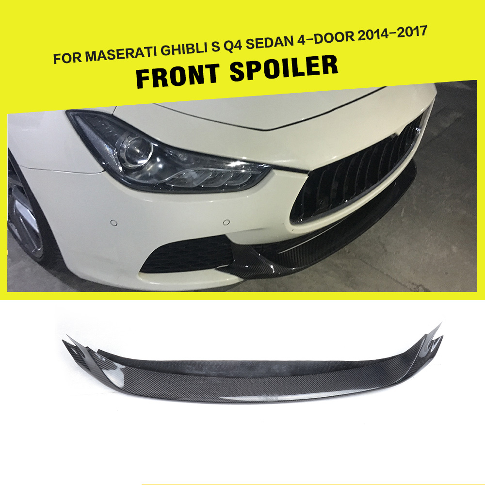 Pour Maserati Ghibli S Q4 Berline 4-Porte Pare-chocs Avant Lip Tablier 2014-2017 En Fiber De Carbone/FRP voiture Racing Styling