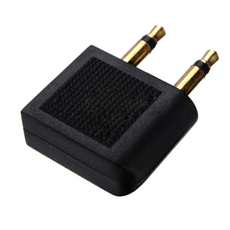 Image 3 - 2pcs/lots 3.5mm Jack Audio Adapter Airline Airplane Travel Traveling Earphone Headphone Headset Jack Adapter hot Wholesale-in Earphone Accessories from Consumer Electronics