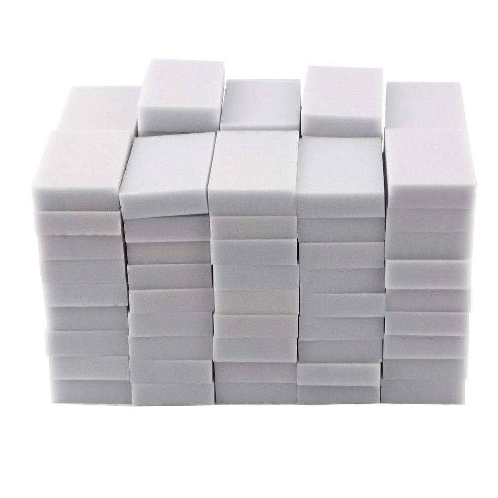 100 pcs Éponge Magique Gomme Mélamine Nettoyant Multi-fonctionnelle Cuisine Outils De Nettoyage Nano Super Décontamination 100x60x20mm