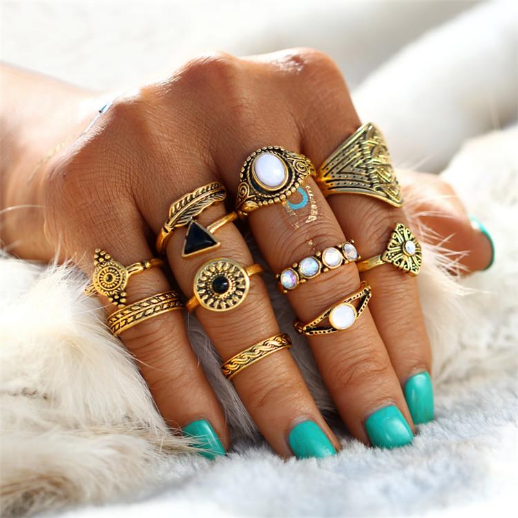 HTB1gIZaRXXXXXclXpXXq6xXFXXXl Tribal Fashion 10-Pieces Vintage Midi Ring Set With Opal Stones - 2 Colors