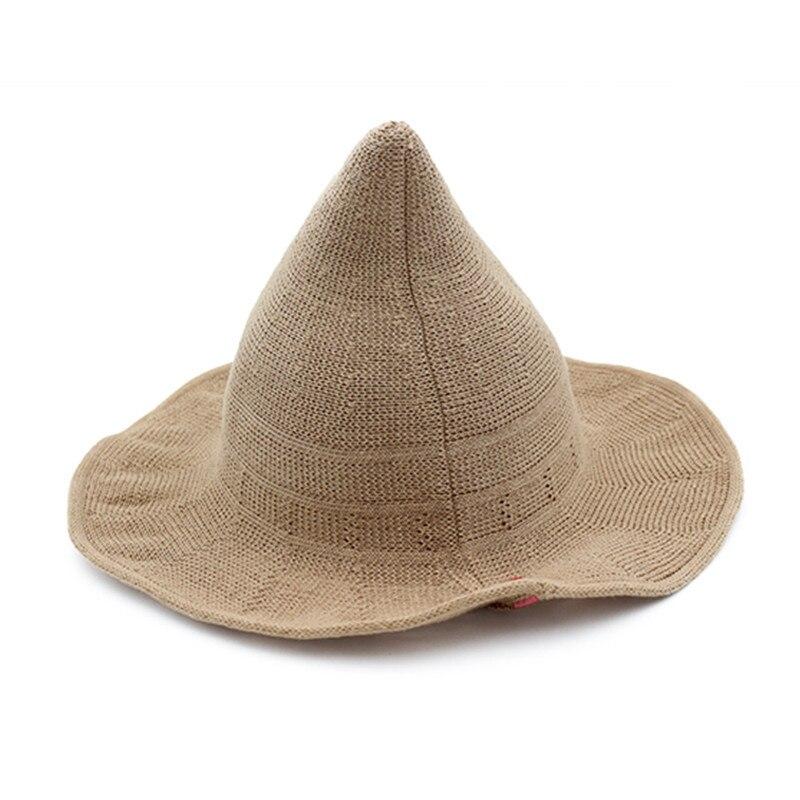 d682a28d83f New Summer Women Sun Hats Fashion Steeple Witch Hat Women Bucket Cap ...