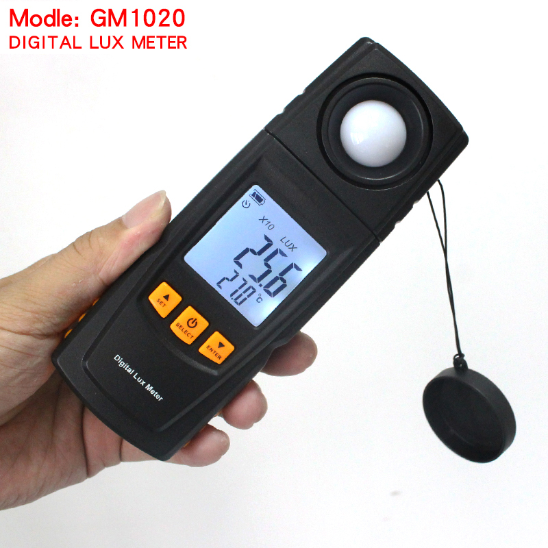 2017 hight quality GM1020 LCD Display Handheld Digital Lux Light Meter Photometer Up to 200,000 Lux handheld without box new professional lx1010bs digital light meter 100000 handheld lux meter