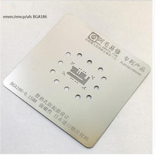 amaoe for EMMC EMCP Ferromagnetism BGA186 Stencil Direct Heating Template 0.15mm Thickness(China)