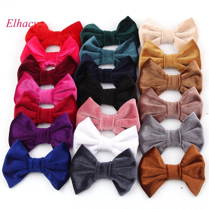 10pcs/lot New 4'' Soft Velvet Hair Bow For Girls Solid Mini Bow for Headband Hair Clips Kids DIY Party Hair Accessorie Hairbands handmade new solid maple wood brown acoustic violin violino 4 4 electric violin case bow included