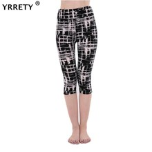 YRRETY Women Leggings Pantalones Black Milk Print Summer Style Soft Skin Material Calf-Length Pants Leggins
