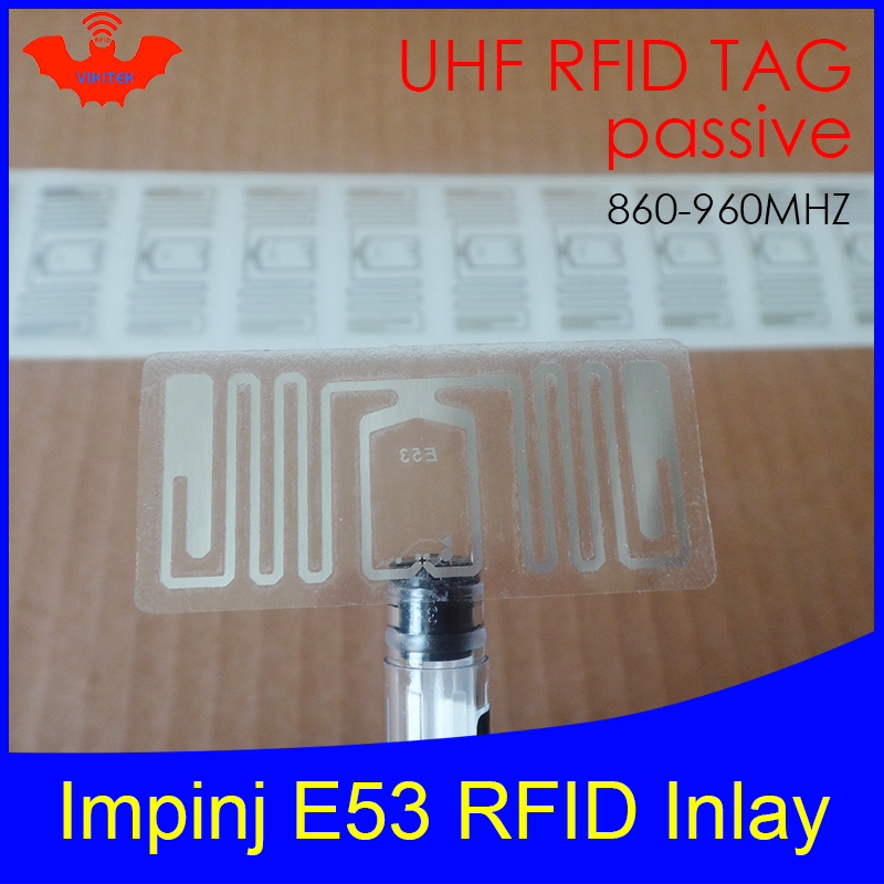UHF RFID Tag Impinj E53 Dry Inlay 915mhz 900mhz 868mhz 860-960MHZ Higgs3 EPCC1G2 6C Smart Card Passive RFID Tags Label