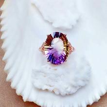 shilovem 925 sterling silver piezoelectric ametrine rings fine Jewelry women trendy party classic new mj1216098agzj