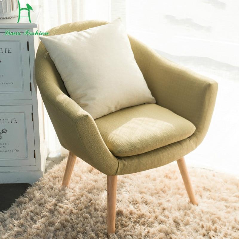 Louis Fashion Nordic Modern Simple Lazy Sofa Small Single ...