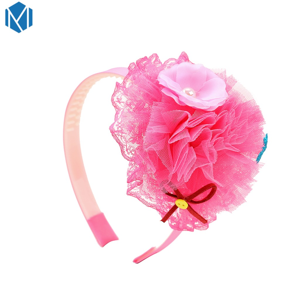 Shock-Resistant And Antimagnetic Girl's Hair Accessories Girl's Accessories M Mism Children Lace Yarn Headband Hairband Bright Stereo Cartoon Crown Hair Band Head Hoop Cute Bows Princess Hair Accessories Waterproof
