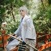 Ranbu Online Tsurumaru Kuninaga Cosplay Touken White Samurai Polyester Costume Japanese Uniform Game Cosplay