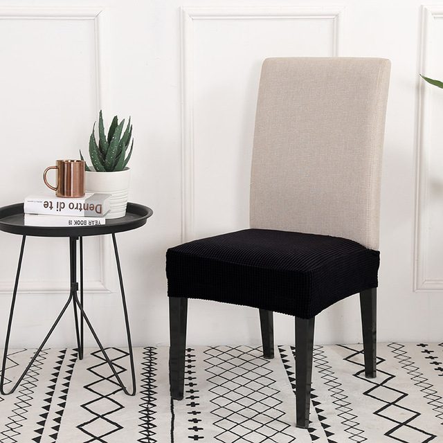 Housse de chaise à motif croisé dénudée Spandex salle à manger housse de siège extensible étui de protection pour Restaurant basen ogrodowy