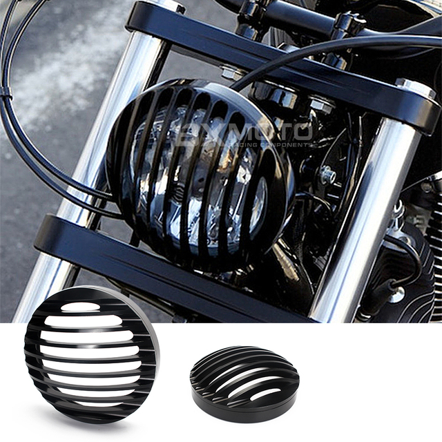 For Harley Sportster XL883/1200 04'-UP Softail Motorcycle Aluminum Headlight Grill Cover new