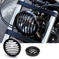 Para Harley Sportster XL883/1200 04'-Softail Motocicleta Faros de Aluminio Parrilla Cubierta nueva