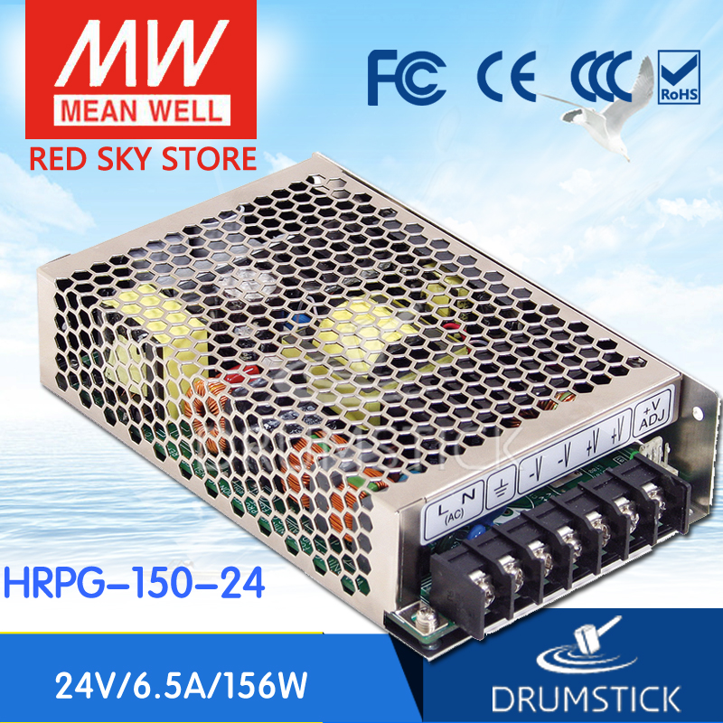 все цены на Hot sale MEAN WELL HRPG-150-24 24V 6.5A meanwell HRPG-150 24V 156W Single Output with PFC Function Power Supply онлайн