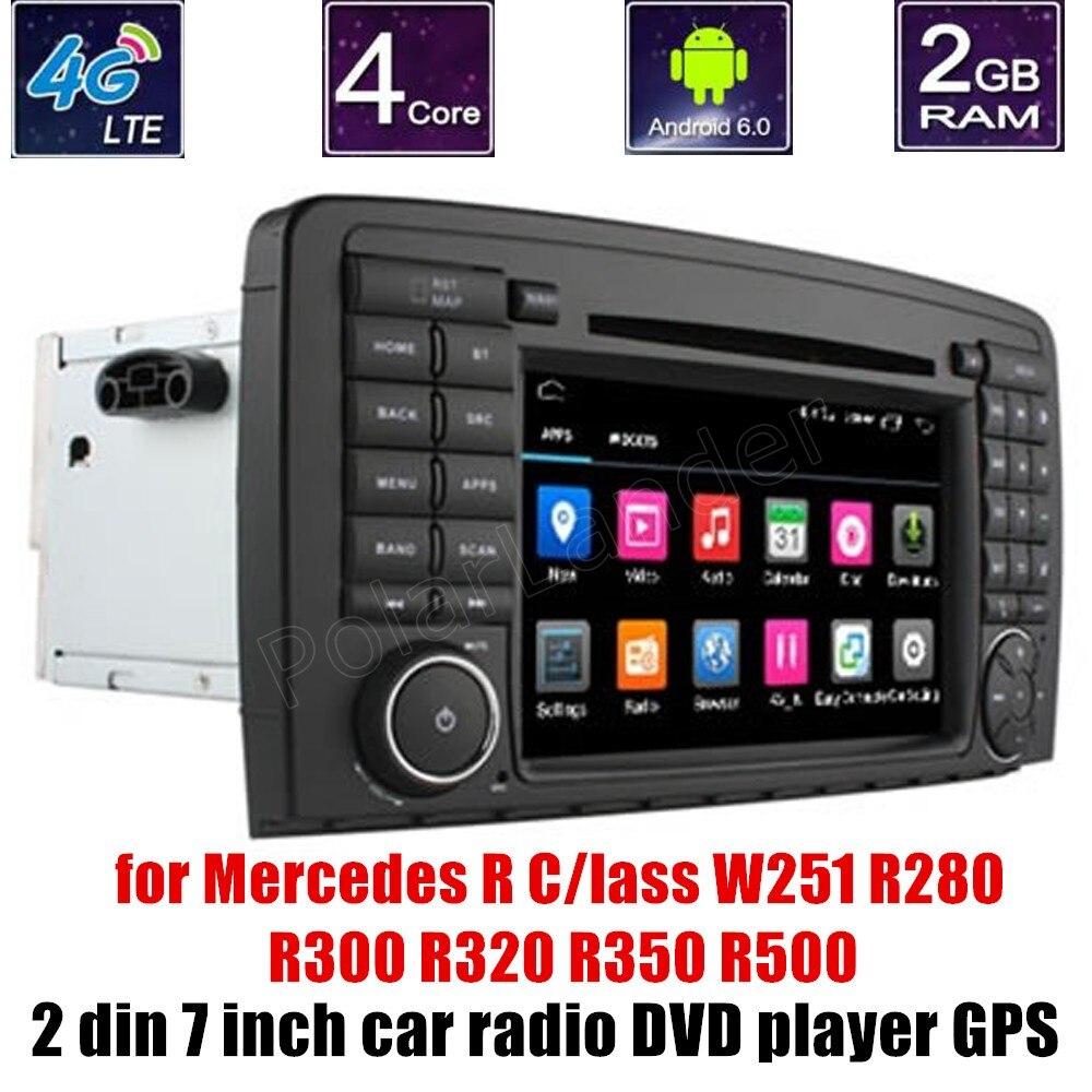 Android 6.0 lecteur DVD GPS voiture WiFi pour B-ENZ R C/indeau W251 R280 R300 R320 R350 R500 commande au volant