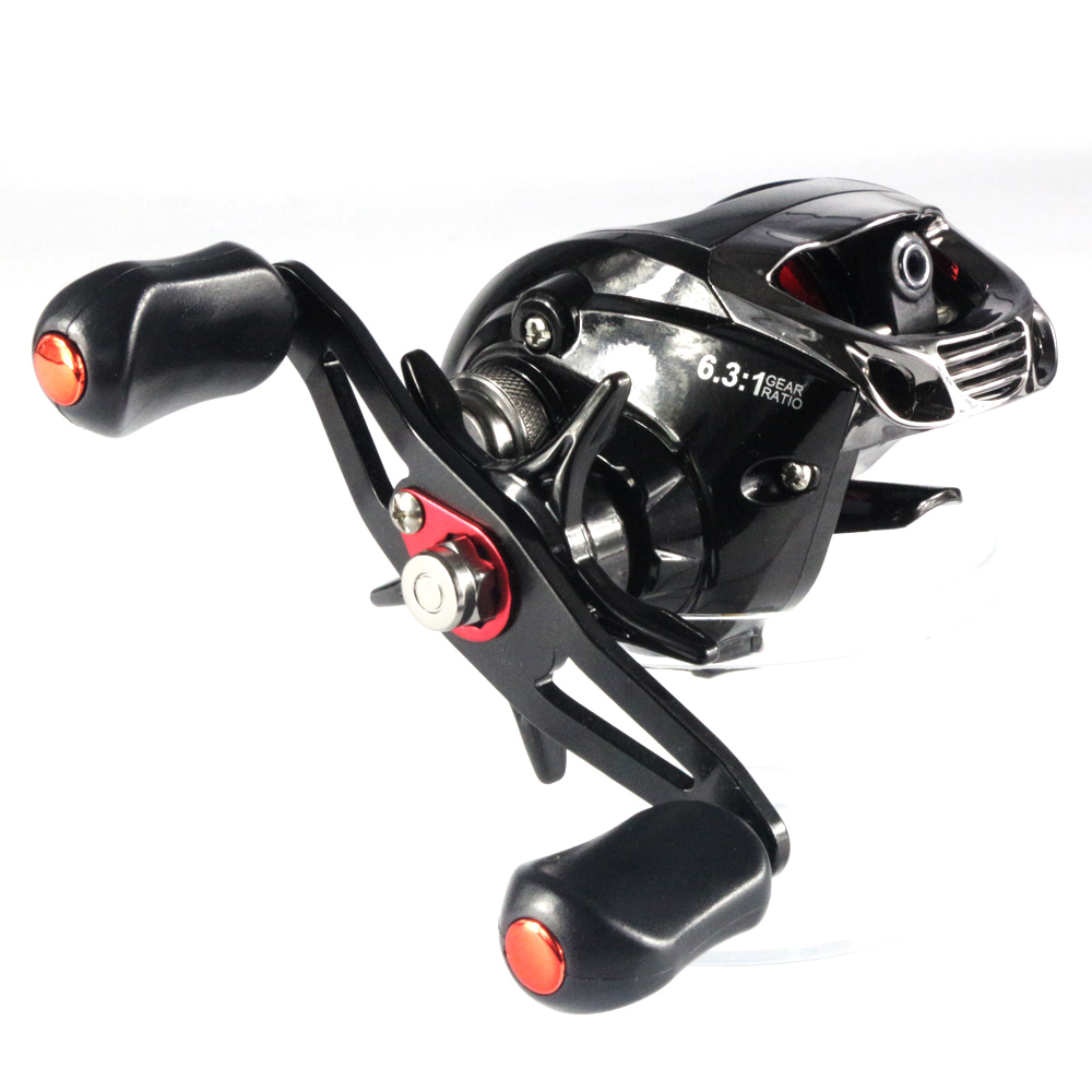 New 6 1 ball bearings bait casting reels baitcasting reel for Baitcasting fishing reels