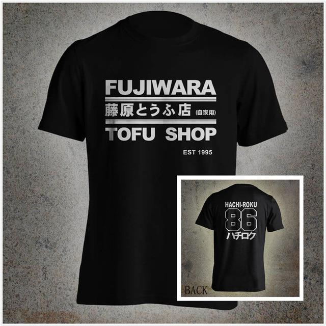 9163d964a7a9 Summer t shirts Takumi Fujiwara Tofu Shop Delivery Initial D Manga  HachiRoku Shift Drift Men T-Shirt Mens Brand Clothing