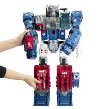 Hasbro Transformers toys Ford Big Mac (red, white and blue) B6118 Action Figures Fortress Maximus