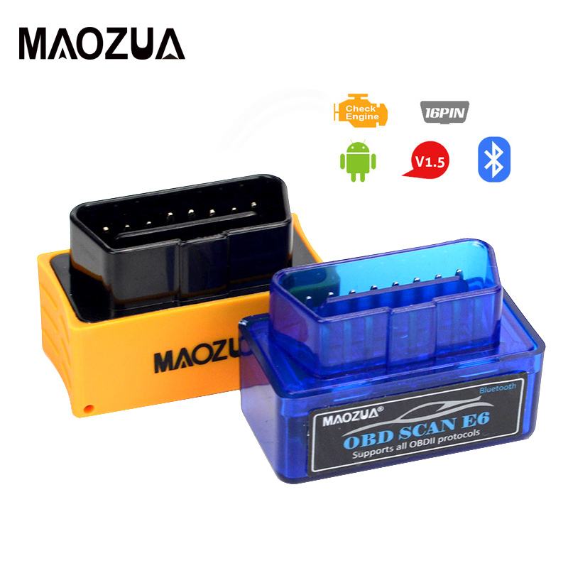 Maozua Mini OBD <font><b>ELM327</b></font> <font><b>Bluetooth</b></font> <font><b>V1.5</b></font> <font><b>OBD2</b></font> Car Diagnostic Tool ELM 327 Auto Scanner for OBDII Protocol for Android Windows image