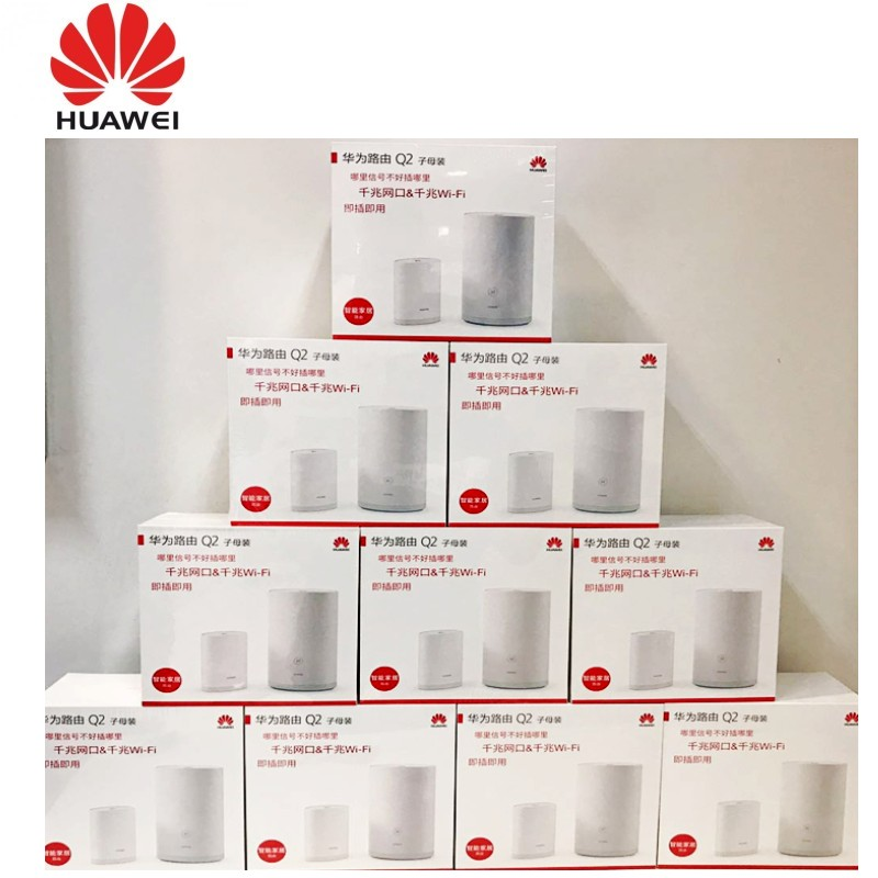 1000pcs Huawei Q2 2.4GHz 300Mbps 5GHz 867Mbps Dual Band High Speed Wireless Router Set