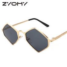 Losango Polígono Irregularidade Das Mulheres dos homens de óculos de Sol  Condução Óculos Óculos de Armação de Metal Óculos de so. 5501accf32