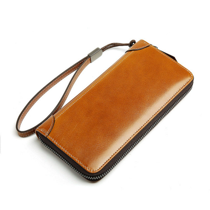 High Quality Long Wallet For Men Zipper Purse For Men Fashion Coins Mens Wallets Genuine Leather Bit Clutch Lover Gift
