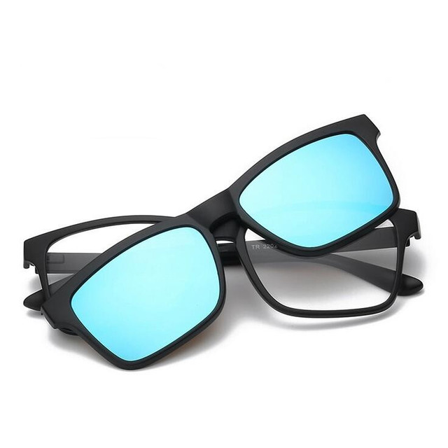 8ae07a1bffa Magnet Sunglasses Clip Magnetic Mirrored Clip on Sunglasses Men Polarized  Clips Myopia night vision Optical 2202