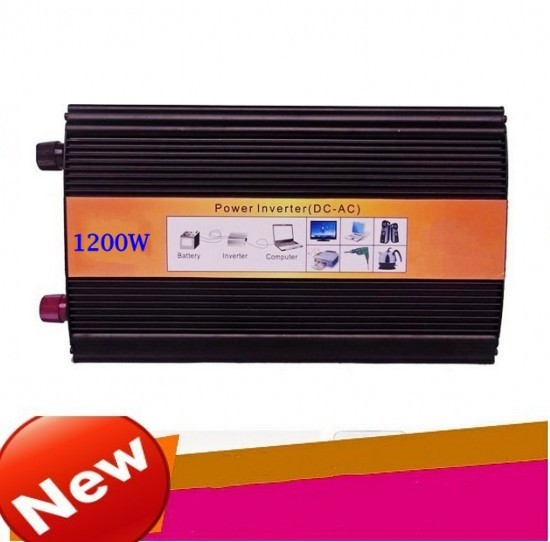 1200W Pure Sine Wave Car Power Inverter Dc 12V TO Ac 220v Car Converter For Boat/Home/Solar Peak Power 2400W dc12v to ac220v pure sine wave power inverter 1500w dc to ac home use power inverter dc to ac car power inverter
