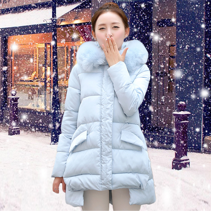 Jackets Cotton Solid Slim Sale And Coats 2016 New Korean Long South Girls Thickened Padded Suit