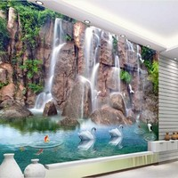 Custom Large Scale Murals Water Health 3D TV Backdrop Super Environmentally Friendly Non Woven Wallpaper